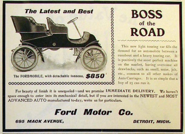 The FORDMOBILE, with detachable tonneau, 1903