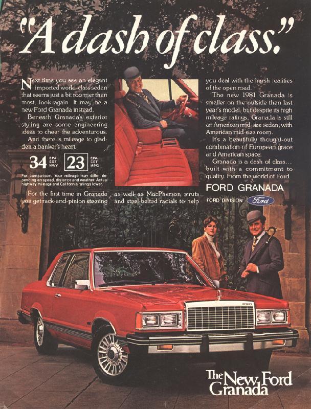 """""""A dash of class"""" Ford Granada, 1981"""