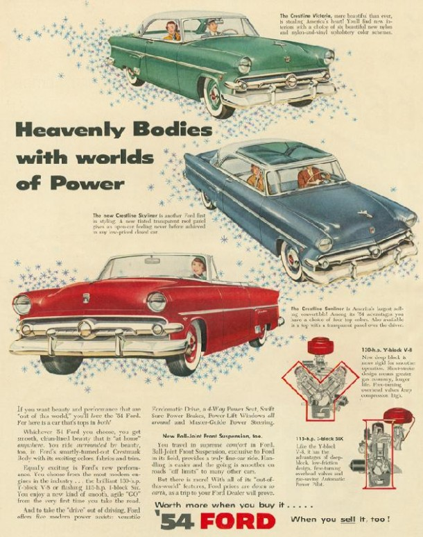 Heavenly bodies with worlds of power, 1954