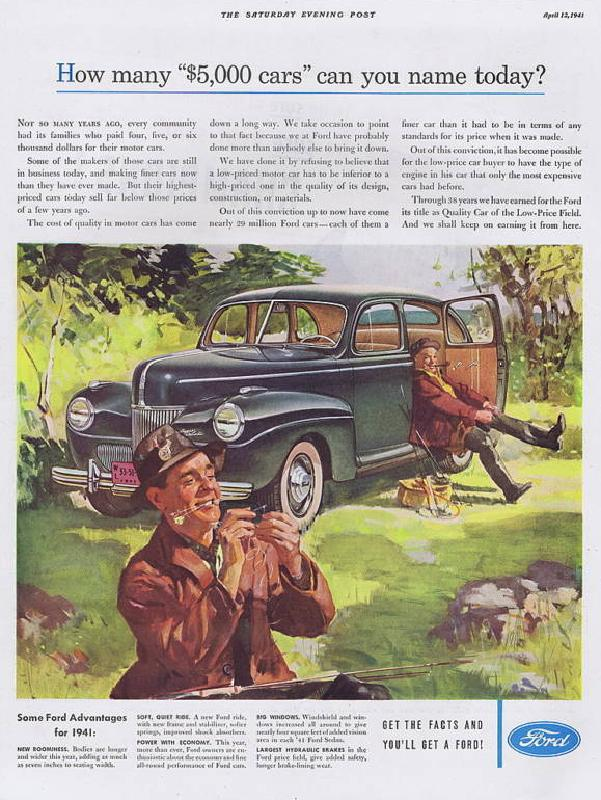 """How many """"$5,000 cars"""" can you name today?, 1941"""