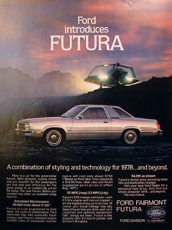 Ford introduces FUTURA, 1978