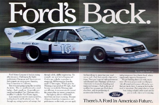 Ford's Back, 1982