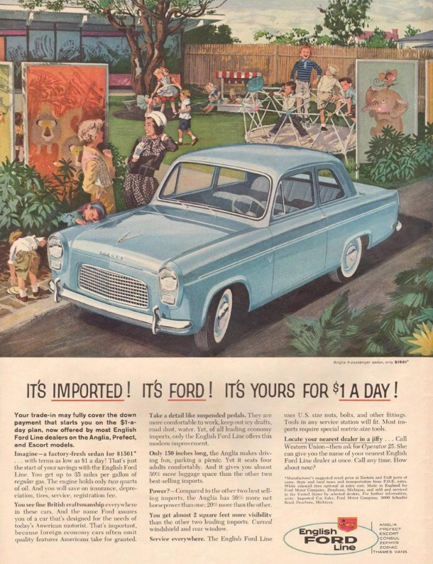 It's imported! It's Ford! It's yours for 1$ a day!, 1959