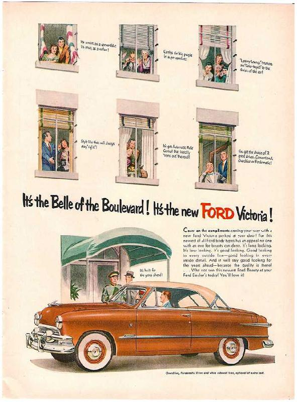 It's the Belle of the Boulevard! It's the new Ford Victoria!, 1951
