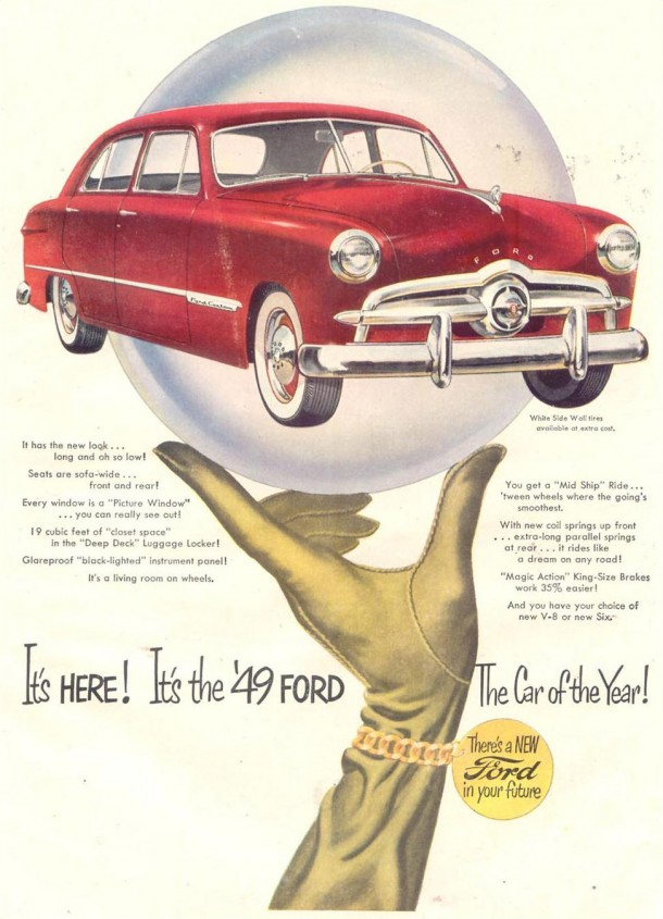 It's here! It's the '49 Ford ... The car of the year!, 1948
