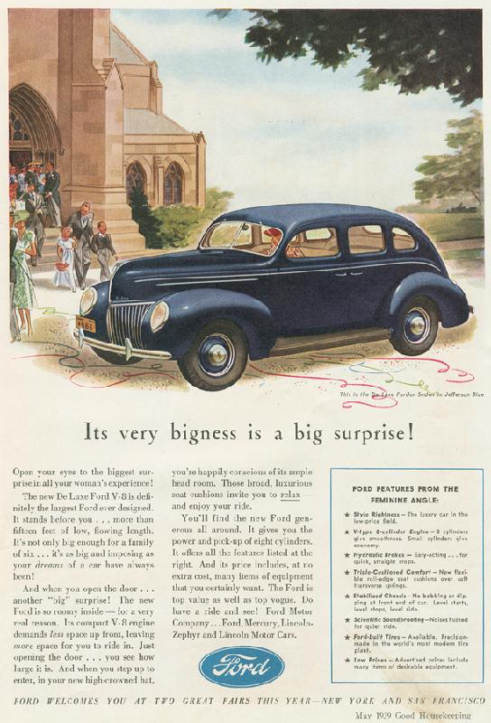 """Its very bigness is a big surprise!"", 1939"