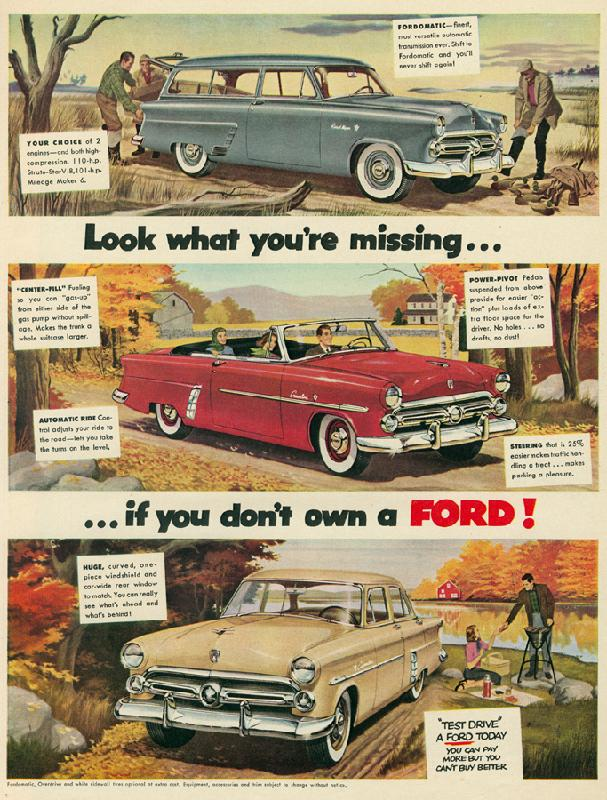 Look what you're missing... if you don't own a Ford!, 1952