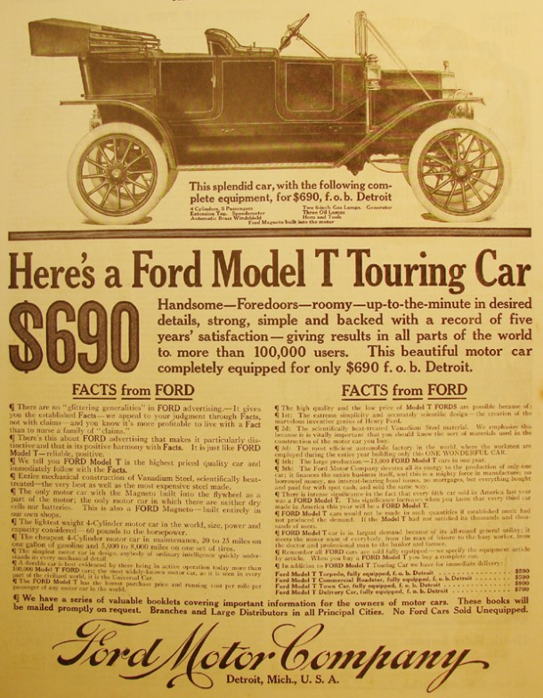 Ford model T touring car, 1912