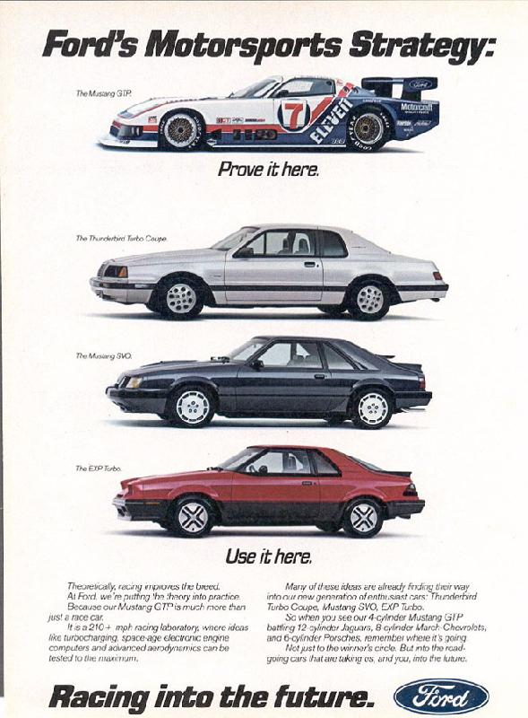 Ford's Motosports Strategy, 1984