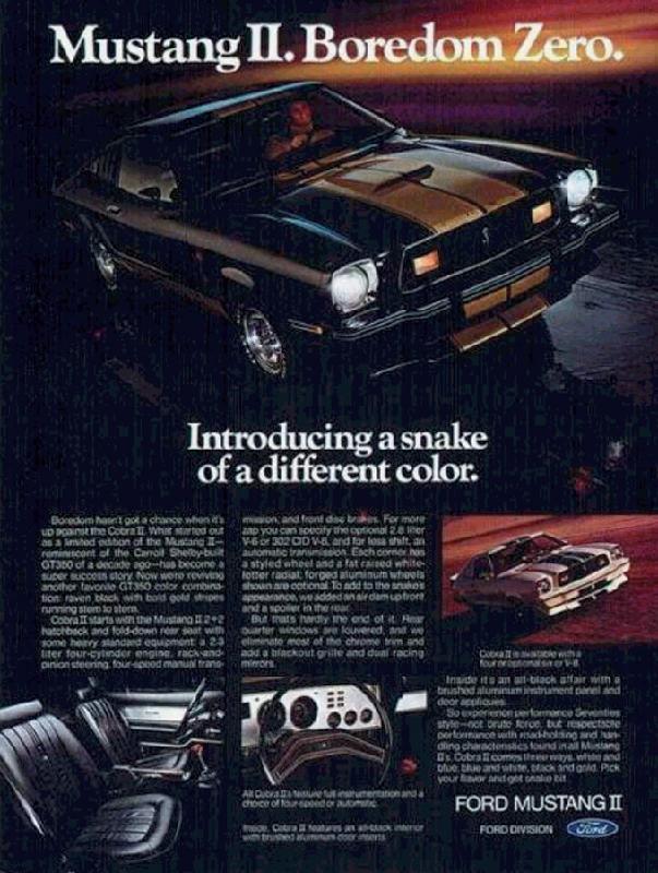 Mustang II boredom zero, 1976