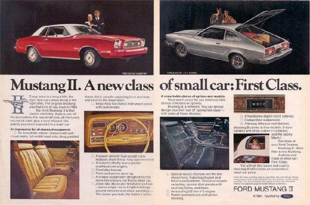 Mustang II a new class of small car: first class, 1975