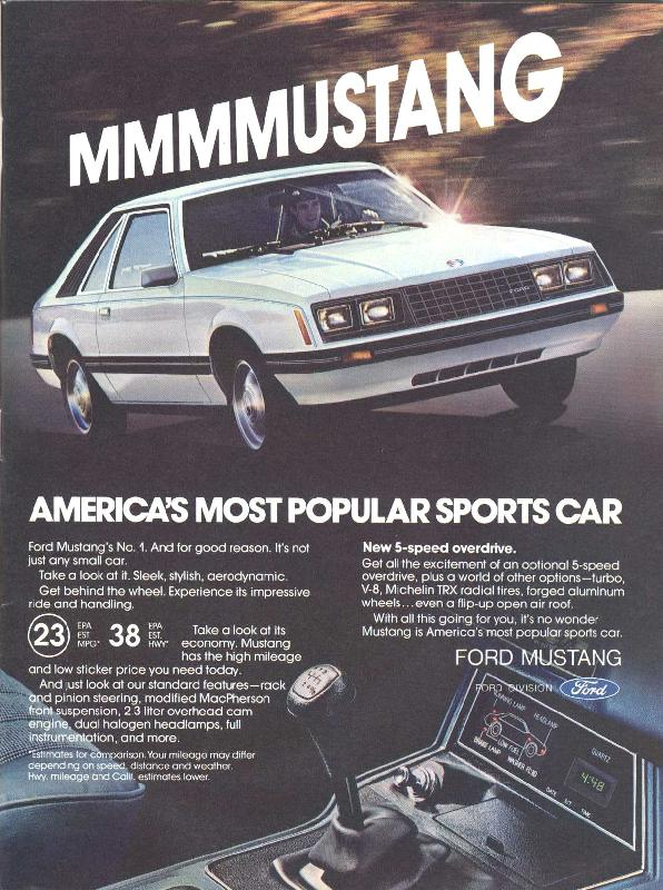 MMMMUSTANG America's most popular sports car, 1980