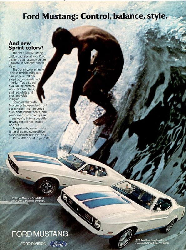 Ford Mustang: Control, balance, style, 1972