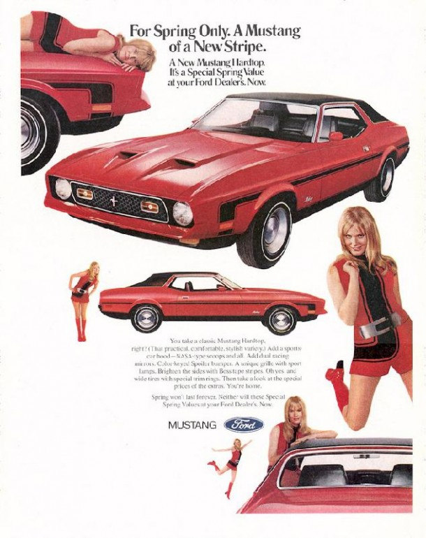 For spring only. A Mustang of a new stripe, 1971
