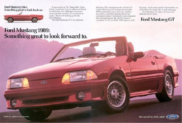 Ford Mustang GT: something great to look forward to, 1989
