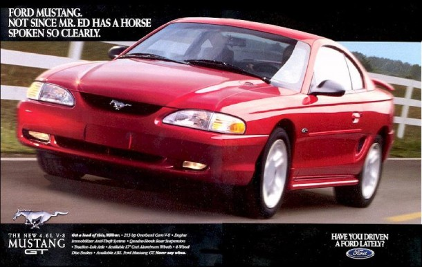 Ford Mustang Not since mr.Ed has a horse spoken so clearly, 1996