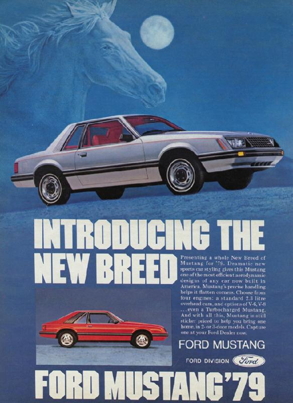 Introducing the new breed Ford Mustang, 1979
