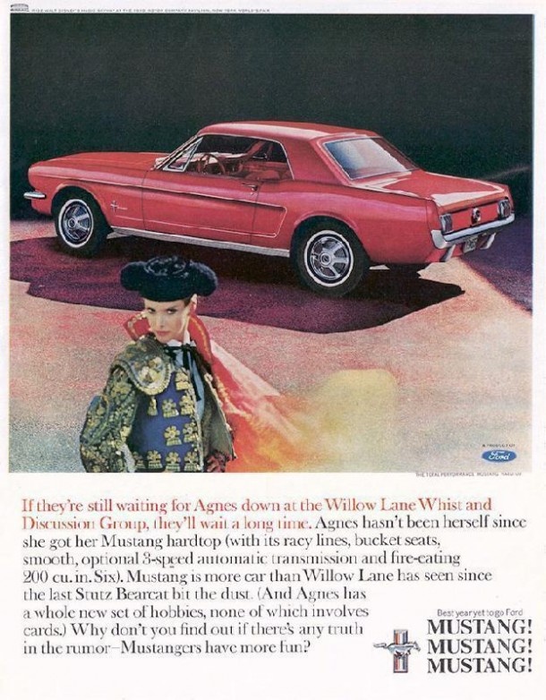 Ford Mustang, they'll wait a long time, 1965