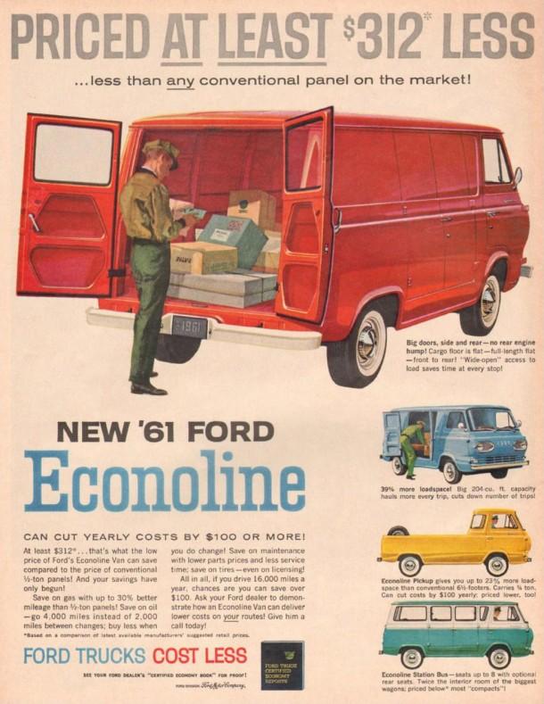 New '61 Ford Econoline, 1961