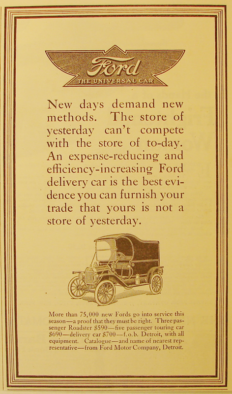New days demand new methods, 1912