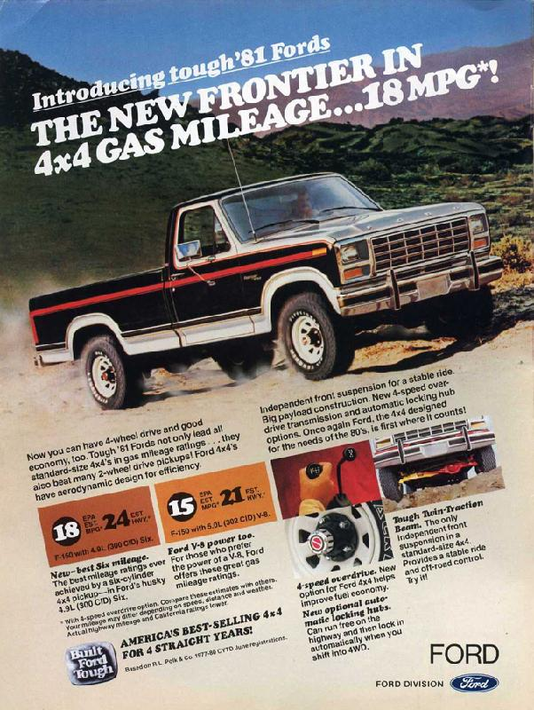 The new frontier in 4x4 gas mileage, 1981