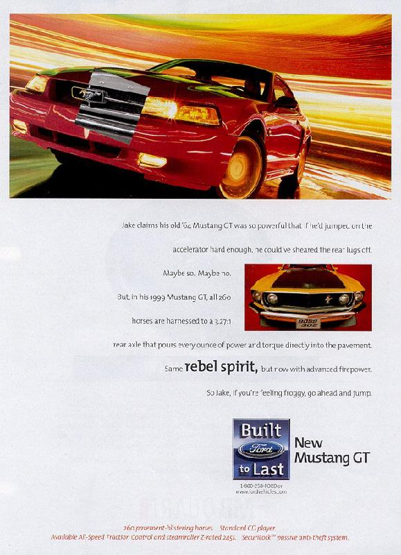 New Mustang GT, 1999