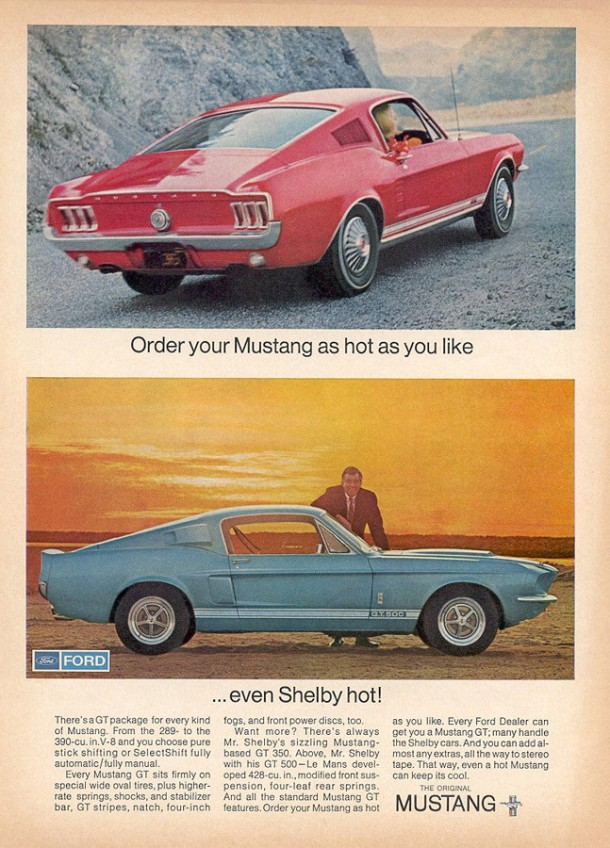 Order your Mustang as hot as you like, 1967