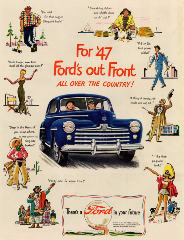 For '47 Ford's ou front all over the country!, 1947