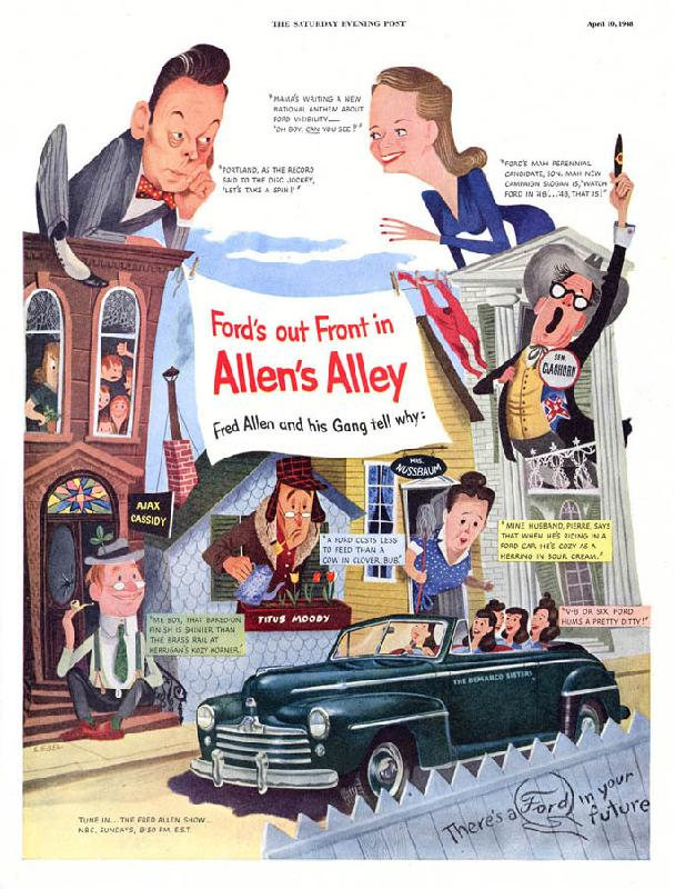 Ford's ou front in Allen's Alley, 1948