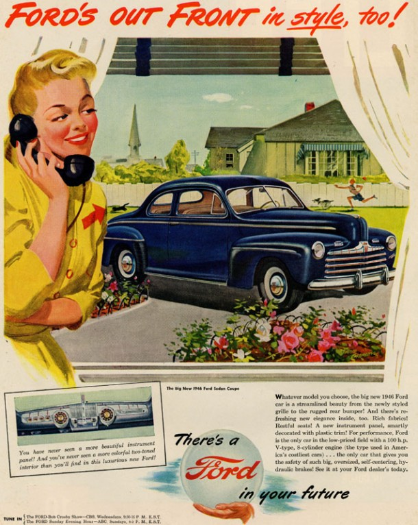Ford's out front in style, too!, 1946