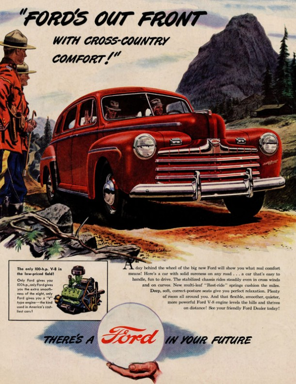 Ford's out front with cross-country comfort!, 1946