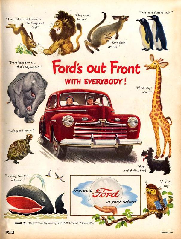 Ford's out front with everybody!, 1946