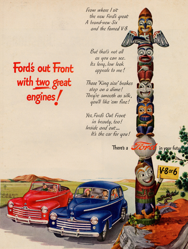 Ford's out front with two great engines!, 1947