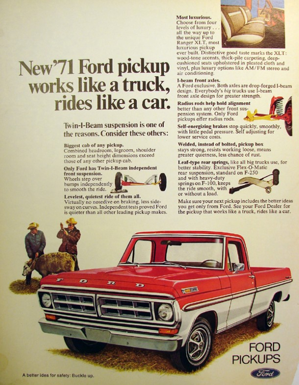 New '71 Ford pickup works like a truck, rides like a car, 1970
