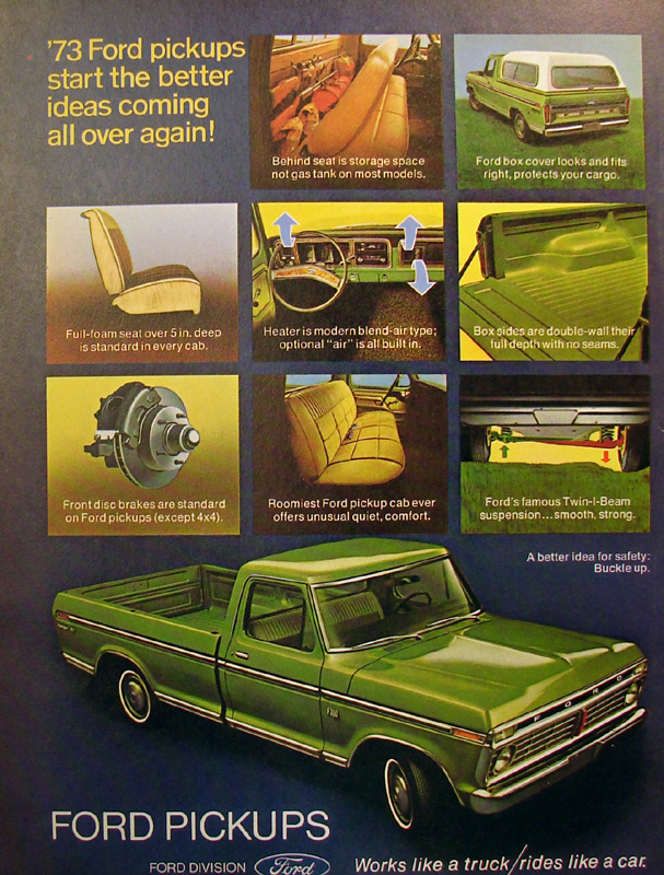 '73 Ford pickups start the better ideas coming all over again!, 1973