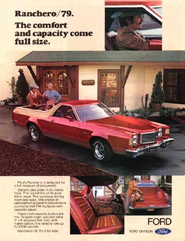 Ranchero '79 The comfort and capacity come full size, 1979