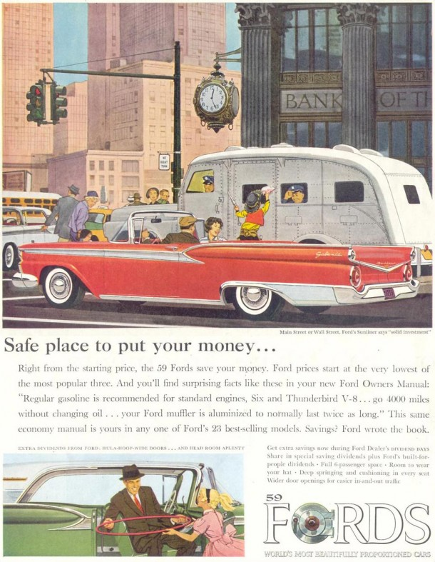 Safe place to put your money..., 1959