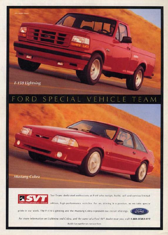 Ford special vehicle team, 1993