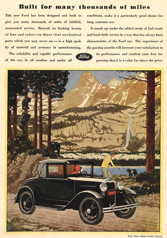"Ford Sport Coupe ""Built for many thousands of miles"", 1930"