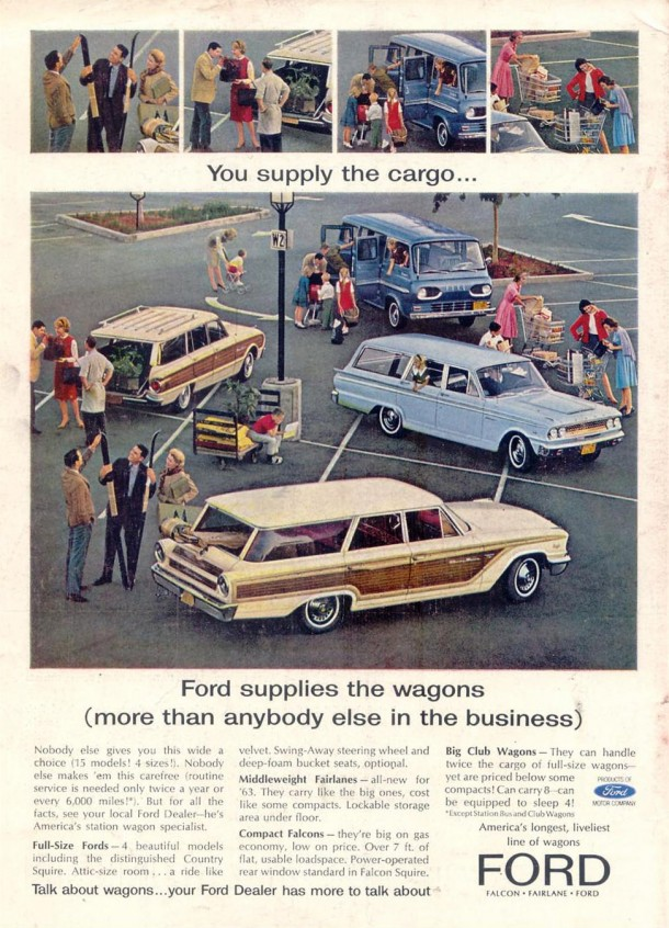 Ford supplies the wagons (more than anybody else in the business), 1963