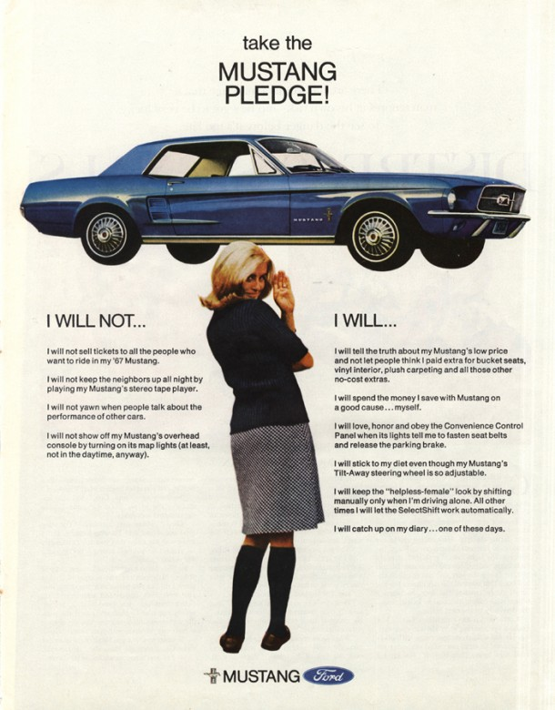 Take the Mustang pledge!, 1967