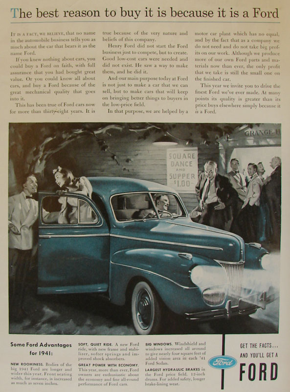 The best reason to buy it is because it is a Ford, 1941