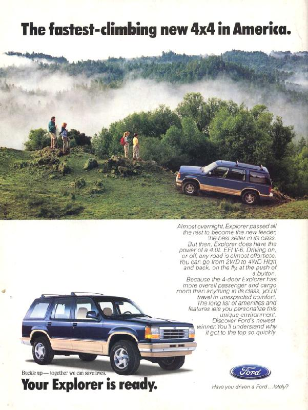 The fastest-climbing new 4x4 in America, 1991