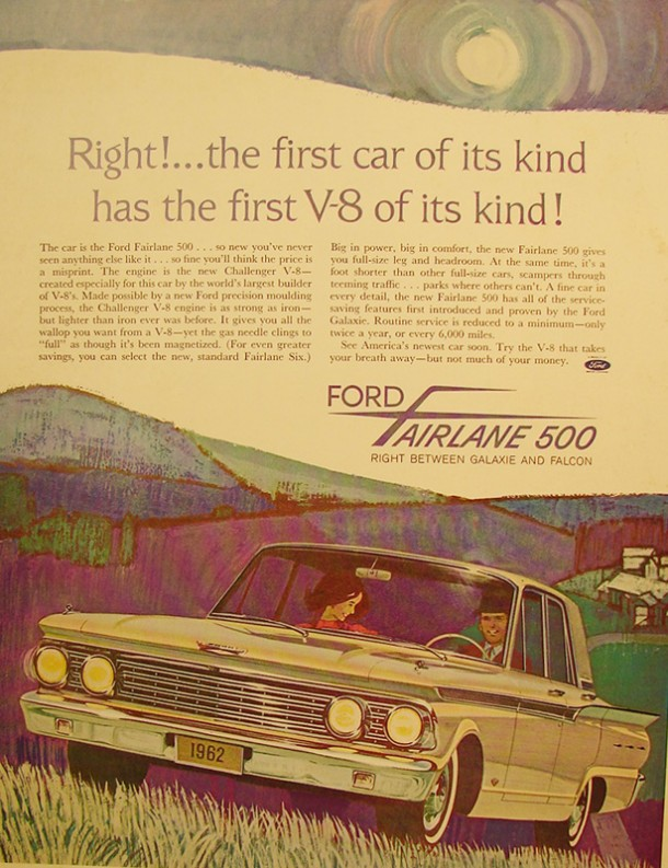 Right!... the first car of its kind has the first V8 of its kind!, 1961