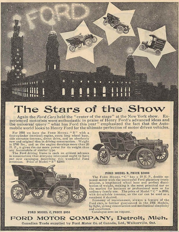 Ford cars: The Stars of the show, 1905