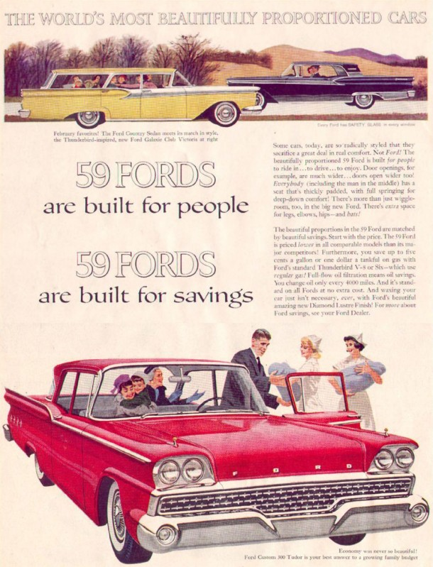 The world's most beautifully proportioned cars, 1959