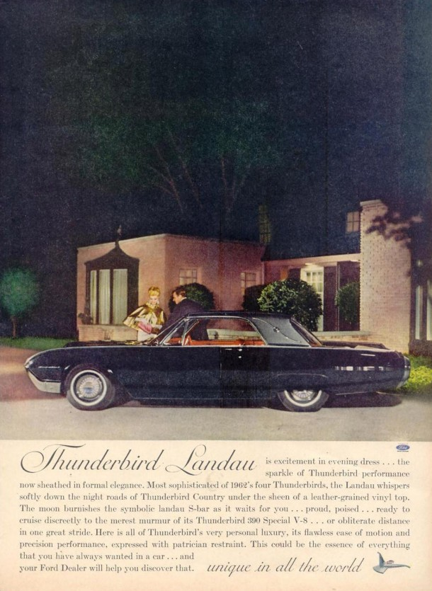 Thunderbird Landau is excitement in evening dress..., 1961