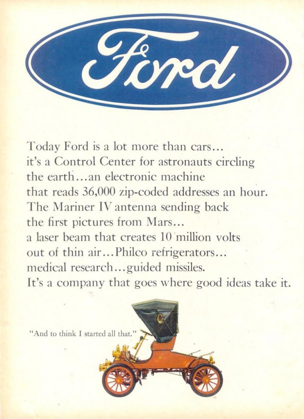 Today Ford is a lot more than cars..., 1966