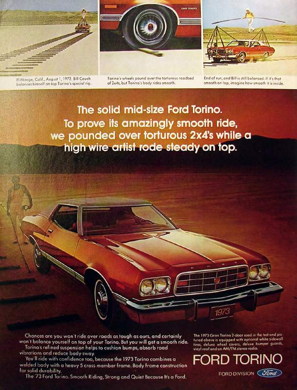The solid mid-size Ford Torino, 1973