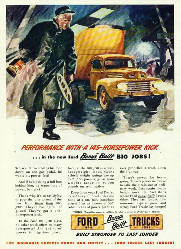 Ford Trucks built stronger to last longer, 1948